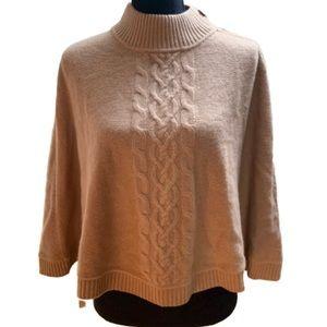 Charter Club Luxury tan cashmere poncho sweater